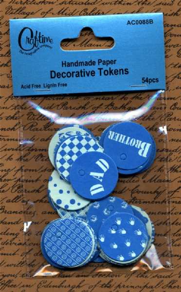 Craftime Decorative Tokens Blue